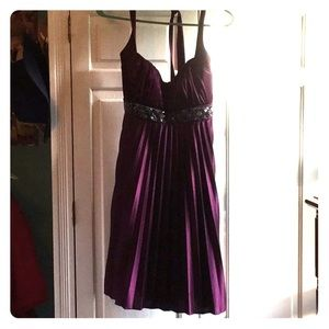 Dresses & Skirts - Dark purple halter dress!